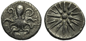Sicily, Uncertain Sicilian Mint, Hemiobol or ...