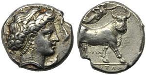 Campania, Neapolis, Didrachm, c. 300 BC; AR ...