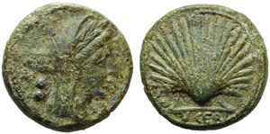 Apulia, Luceria, Biunx, c. 225-217 BC; AE (g ...
