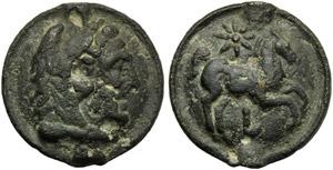 Apulia, Luceria, Cast Nummus, c. 217-212 BC; ...