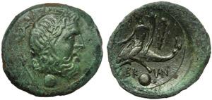 Apulia, Brundusium, Uncia, c. 215 BC; AE (g ...