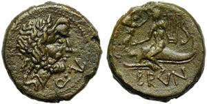 Apulia, Brundisium, Sextans, 2nd cent BC; AE ...