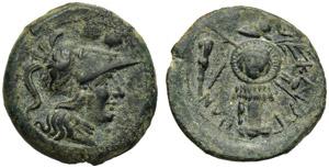 Apulia, Caelia, Sextans, c. 220-150 BC; AE ...