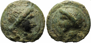 Anonymous, Cast As, Rome, c. 270 BC; AE (g ...