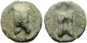 Anonymous, Cast Uncia, Rome, c. 265 BC; AE ...
