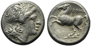 Anonymous, Didrachm, Rome, before 269 BC; AR ...