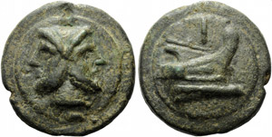 Anonymous, Cast As, Rome, c. 225-217 BC; AE ...