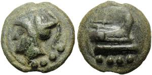 Anonymous, Cast Triens, Rome, c. 225-217 BC; ...