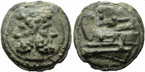 Anonymous, Cast As, Rome, c. 217-215 BC; AE ...