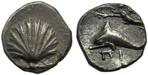 Apulia, Tarentum, Litra, c. 420-227 BC; AR ...