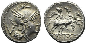 Anonymous, Quinarius, Rome, after 215-214 ...