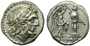 Anonymous, Victoriatus, Sicily, c. 216-215 ...