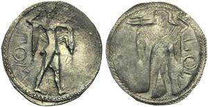 Lucania, Poseidonia, Stater, c. 530-500 BC; ...