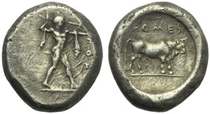 Lucania, Poseidonia, Stater, c. 470-445 BC; ...