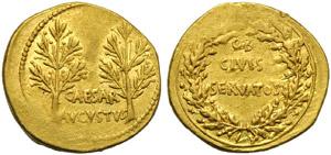 Augustus (27 BC - AD 14), Aureus, Spain: ...