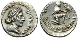 Augustus (27 BC - AD 14), Denarius, Rome, c. ...
