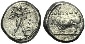 Lucania, Poseidonia, Stater, c. 445-420 BC; ...