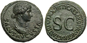 Livia (Tiberius, 14-37), Dupondius, Rome, AD ...