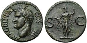 Agrippa (Gaius, 37-41), As, Rome, AD 37-41; ...