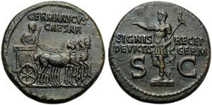 Germanicus (Gaius, 37-41), Dupondius, Rome, ...