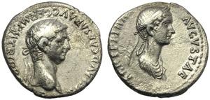 Claudius (41-54), Denarius, Rome, AD 50-54; ...
