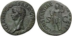 Claudius (41-54), As, Rome, c. AD 50-54; AE ...