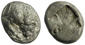 Lucania, Velia, Obol, c. 535-465 BC; AR (g ...