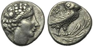 Lucania, Velia, Drachm, c. 440-400 BC; AR (g ...