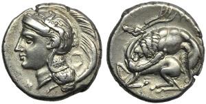 Lucania,Velia, Didrachm, c. 280 BC; AR (g ...