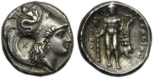 Lucania, Heraclea, Stater, c. 300 BC; AR (g ...