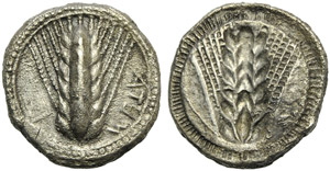 Lucania, Metapontion, Stater, c. 470-440 BC; ...