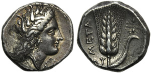 Lucania, Metapontion, Stater, c. 330-290 BC; ...