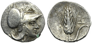 Lucania, Metapontion, Diobol, c. 325-275 BC; ...