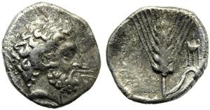 Lucania, Metapontion, Triobol, c. 325-275 ...
