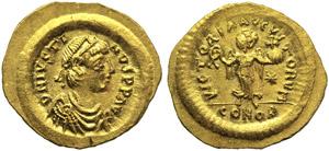 Justin I (518-527), Tremissis, ...