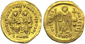 Justin I and Justinianus I (AD 527), ...