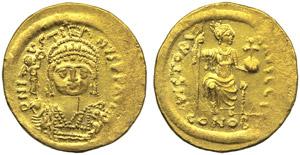 Justin II (565-578), Solidus, Constatinople, ...
