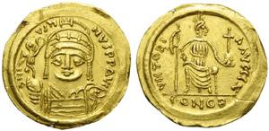 Justin II (565-578), Solidus, Ravenna, AD ...