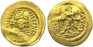 Mauricius Tiberius (583-602), Solidus, ...