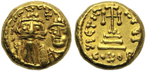 Constans II with Constantine V (641-668), ...