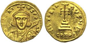 Tiberius III  (698–705), Solidus, ...