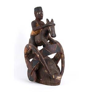 A WOOD HELMET MASK Yoruba64 cm ...