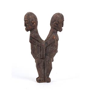 A WOOD SCULPTURE OF TWO MALE FIGURES Lobi26 ...