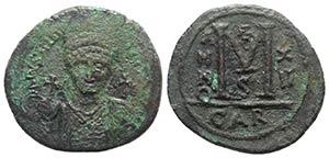 Justinian I (527-565). Æ 40 Nummi (37mm, ...