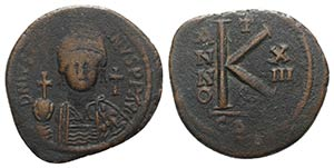 Justinian I (527-565). Æ 20 Nummi (32mm, ...