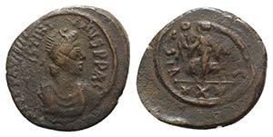 Justinian I (527-565). Æ 10 Nummi (23mm, ...