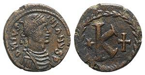Justinian I (527-565). Æ 20 Nummi (23mm, ...