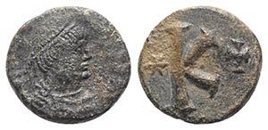 Justinian I (527-565). Æ 20 Nummi (21mm, ...