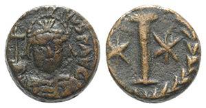 Justinian I (527-565). Æ 10 Nummi (15mm, ...
