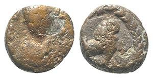 Justinian I (527-565). Æ Nummus (8mm, ...